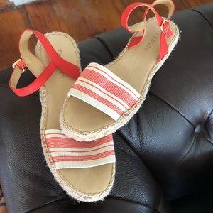 Coral Talbots Espadrille Sandals